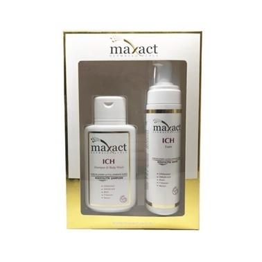 Maxact Maxact ICH Shampoo 250ml & ICH Foam 200ml Kofre Renksiz